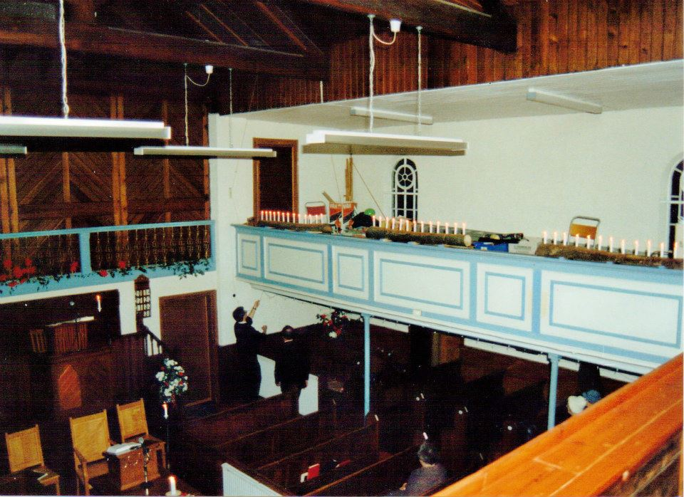 Before the Borough Green Carol Service in 1996