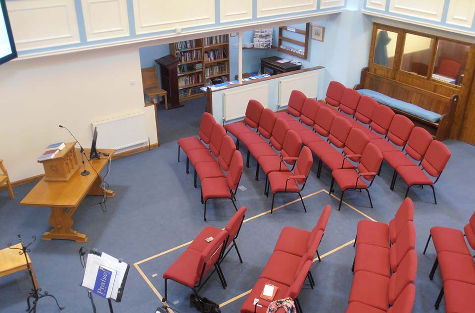 Inside the chapel at Borough Green Baptist Church